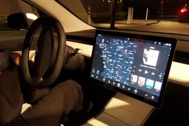 2017 Tesla Model 3 Control Panel