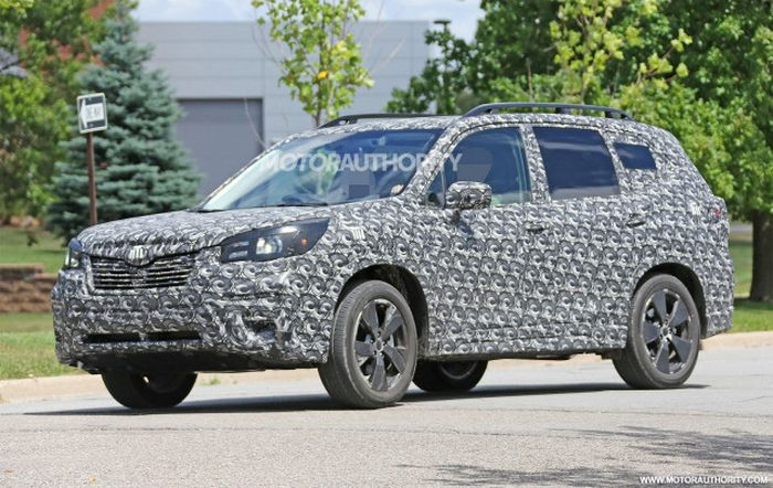 2019 Subaru Forester Engine Redesign Concept Spy Photos
